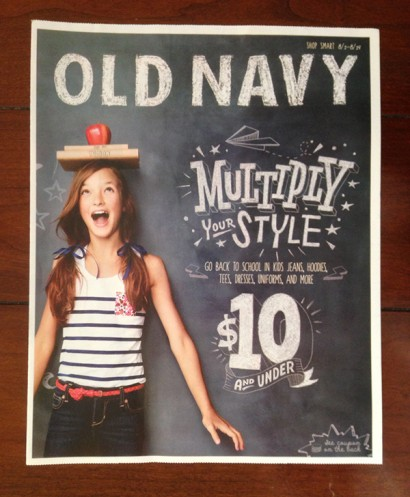 Old Navy Newspaper Insert